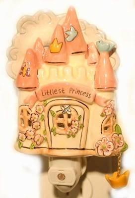 Princess Castle Ceramic Night Light by Heather Goldminc