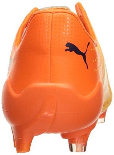 Puma Mens evoSPEED 17 SL S FG Soccer Shoe Ultra Yellow-peacoat-orange Clown Fish