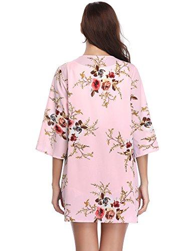 Kimono Gilet Fleur Cardigan Fluide L Femme Veste UdFdanRq