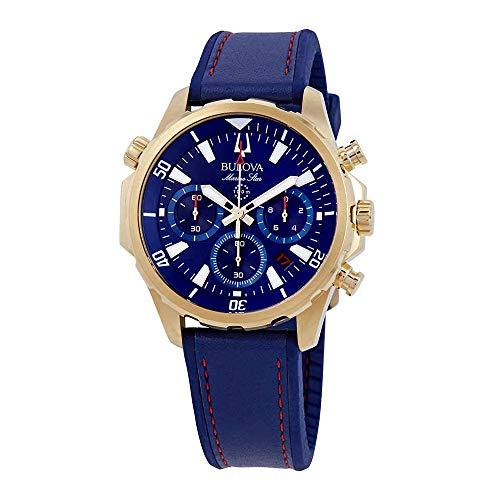 Bulova Men's Marine Star - 97B168 Blue One - Star Bulova Marine Chronograph Mens