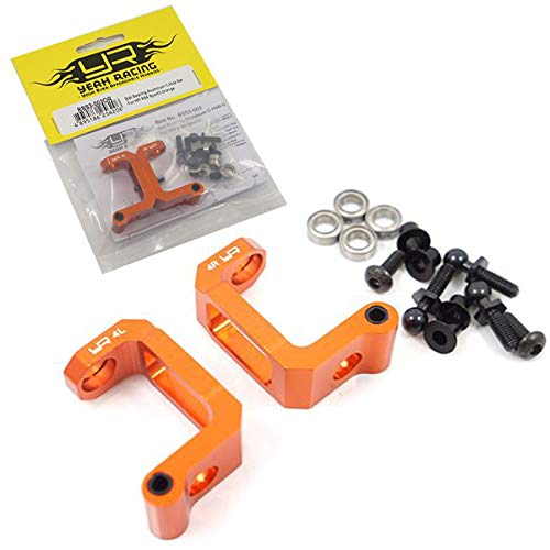 (Yeah Racing RSS3-003OR Ball Bearing Aluminum C-Hub Set Orange HPI RS4 Sport 3)