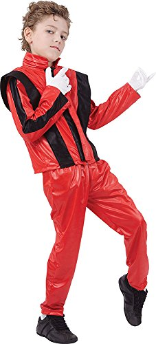 Superstar Red Jacket/trousers Large (1980 Fancy Dress Outfits)