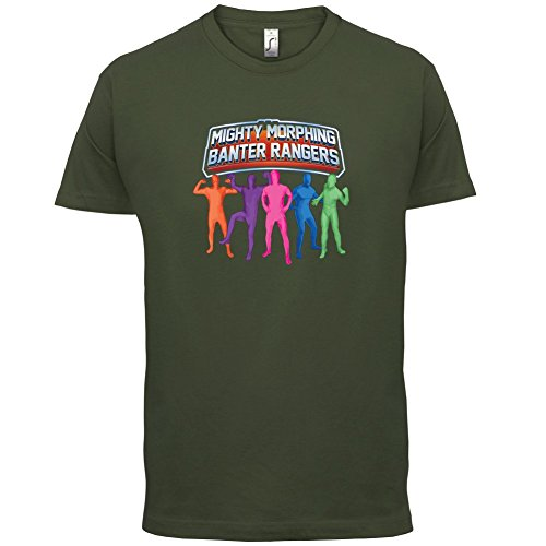 Mighty Morph Rangers - Mens T-Shirt - Army - XXL (Green Ranger Morph Suit)