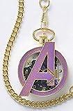 MARVEL アベンジャーズ レリーフ 時計 専用BOX付き 懐中時計 アイアンマン Avengers マーベル ファッション グッズ
