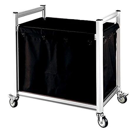 Carro Ropa Transporte Caja cesta para la colada Carrito de transporte para ropa perfiles de aluminio: Amazon.es: Hogar