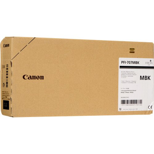 Canon 700ml PFI-707 Pigment Matte Black Ink Tank for iPF830, iPF840, iPF850 CAD - Tank Black Pigment Ink Matte