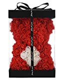 Rose Teddy Bear -10 Inches -Over 300+ Flowers on