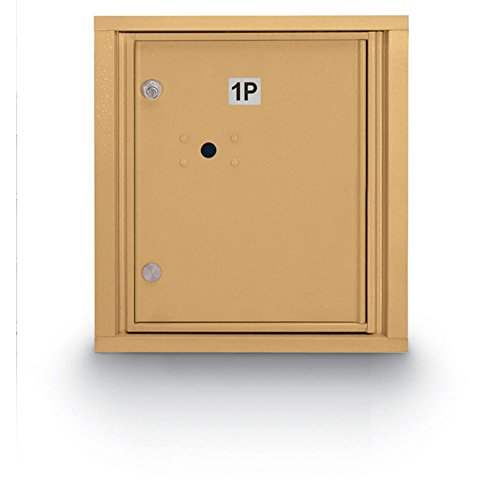 (postalproducts N1029448GLD Standard 4C Mailbox with 1 Parcel Locker, 18