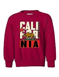 California Republic Original Retro Bold Youth Crewneck Sweatshirt