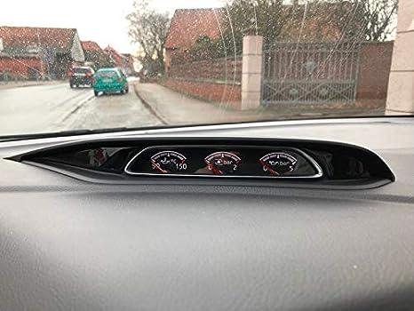 Focus MK3 Gelembleme Cover Set Ladedruckanzeige Rot