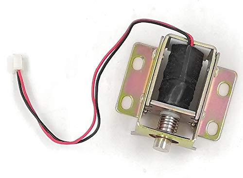 Jhe TFS-A31 Electric Lock Assembly Solenoid DC 6V 0.35A Spring Load Linear Door Locking Solenoid for Cabinet Door Latch