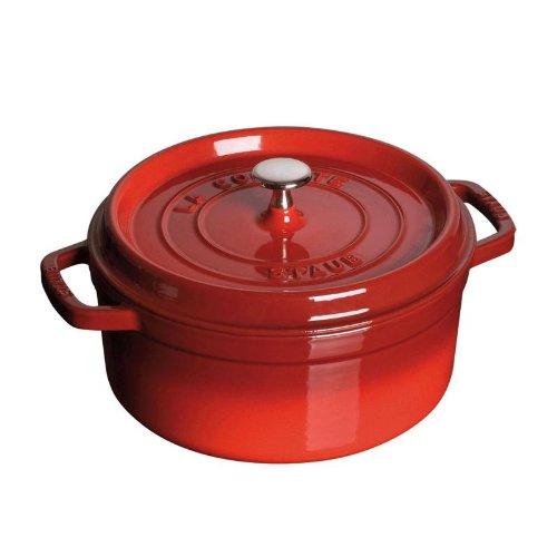 Staub 1102606 Round Cocotte Oven, 5.5 quart, Cherry
