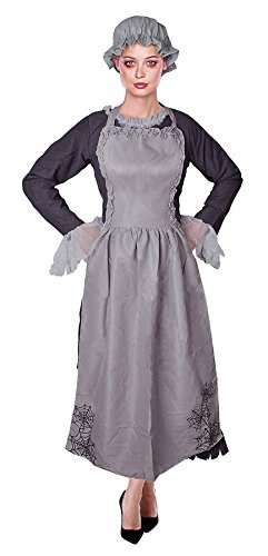 Freaky Maid, Ghost/Zombie Womens Halloween Fancy Dress Costume by Bristol Novelties
