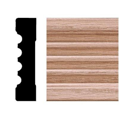 House of Fara 3/4 in. x 3 in. x 8 ft. Oak Fluted Casing - 3 Door Moulding
