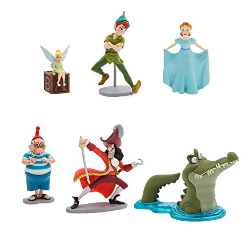 Disney Peter Pan 65th Anniversary Pvc Figurine 6 Figure Set Play set