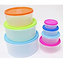 Storage Containers for Portion Control Diet Meal Plans Prep Organization 14 Pcs Set - Pantry Kitchen Countertop Cabinet Freezer Pet Dog Food Bins - Airtight Portable Nesting Stackable by Ideas In Life