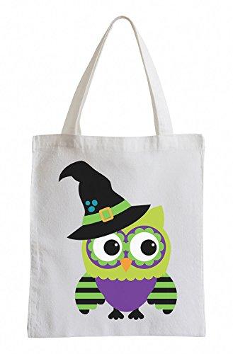 Raxxpurl Strega Owl Fun sacchetto di iuta