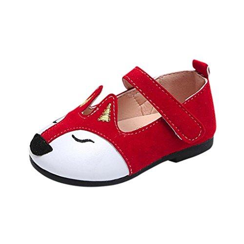 Schuhe jany 0-6 Jahre Alte Mädchen Süße Fox Ballerina Prinzessin Flache Schuhe Kleinkind Kinder Einzelne Schuhe Roter