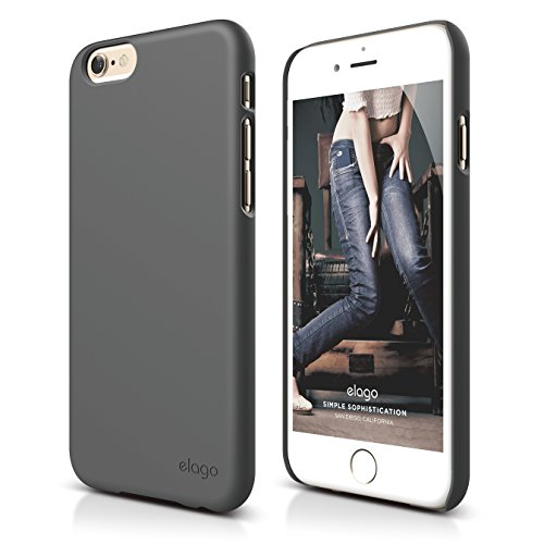 iPhone 6S Plus Case, elago [Slim Fit 2][Soft Feel Dark Gray] -...