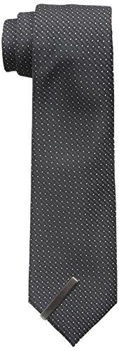 Little Black Tie Men's Allen Neat Tie with Clip, Black, O...