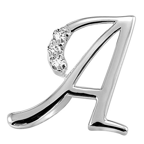 Jewels By Erika Mini A 10K White Gold and Diamond Initial Pendant