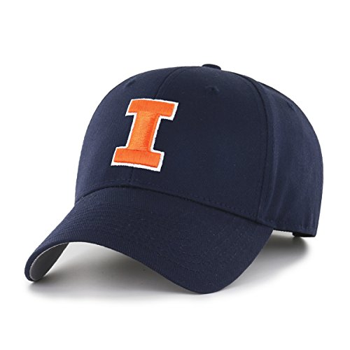 NCAA Illinois Illini OTS All-Star MVP Adjustable Hat, Navy, One Size