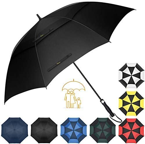 Heasy Golf Umbrella Windproof Large 54/62/68 Inch Extra Sturdy Auto Open Oversize Double Canopy Vented Stick Umbrellas for Men & Women [並行輸入品]