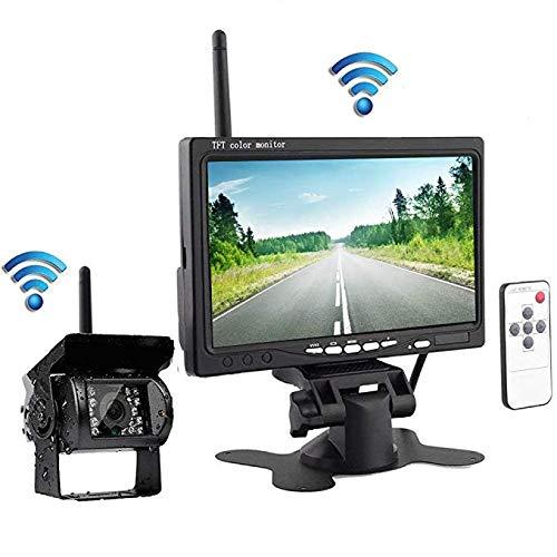 (podofo Wireless Waterproof Vehicle Backup Camera Kit 7