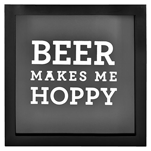 MCS Bar None Hoppy Beer Cap Collector Shadowbox, 10