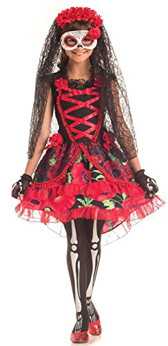Day of the Dead Floral Senorita Kids Costume -