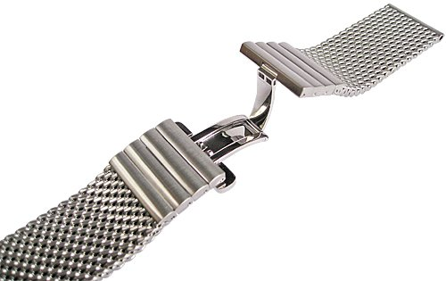 Staib 22mm Matte Mesh 150mm Steel Watch Band Model 2792 by Staib (Image #2)