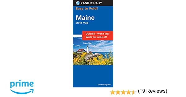 Easy To Fold Maine Easyfinder Maps Rand McNally - State map of maine