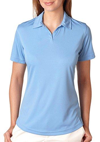 UltraClub Polo Shirt 8425L Women's Cool & Dry Sport Interlock 3XL Columbia Blue