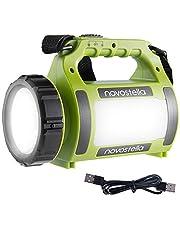 Novostella 1000LM CREE LED Handscheinwerfer Wiederaufladbar Camping Laterne Leuchte Wasserdicht Suchscheinwerfer