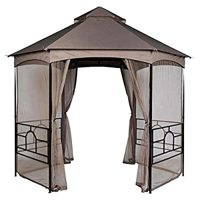 Hexagon Garden House Gazebo Replacement Canopy Top Cover - RipLock 350 : Garden & Outdoor