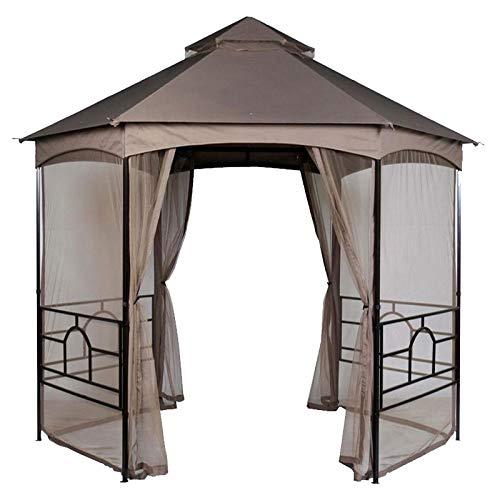 Hexagon Garden House Gazebo Replacement Canopy Top Cover - RipLock 350 (Hexagon Canopy Replacement)