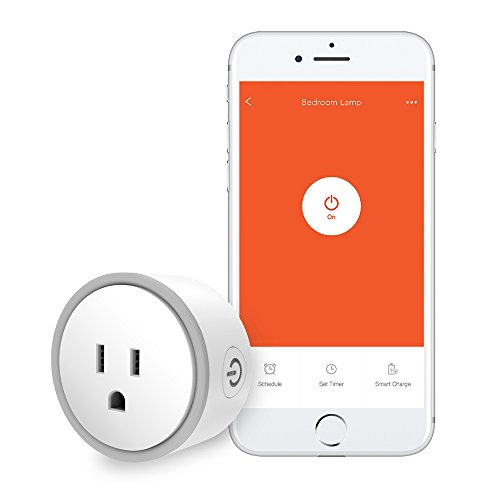 Price comparison product image Elf Smart Plug by Eques - No Hub Required - Control Your Home from Anywhere - Compatible with Alexa & Google Home - WiFi App Enabled - UL FCC Certified - Fireproof Material (1, Gray)