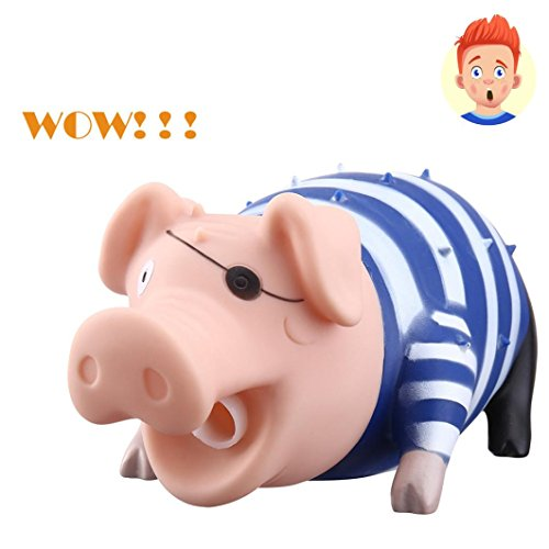 Vovomay Cute Shrilling Pig Squeaky Rubber Pig Toy Relax Toy Squeeze Realistic Toy