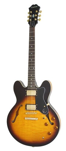 Epiphone Dot Deluxe Flametop Semi-Hollowbody Electric Guitar Vintage Sunburst