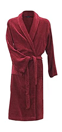 Image Unavailable. Image not available for. Colour  Men s Luxury Velour    Terry Towelling Dressing Gown - Burgundy (Medium) 051ba74d5