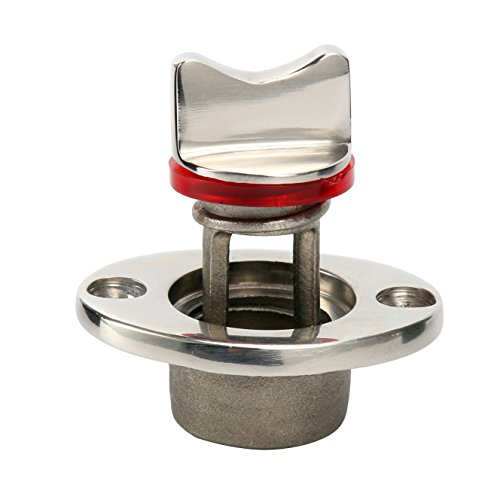 Amarine-made Oval Garboard Drain Plug Stainless Steel Boat Fits 1'' Hole, Thread for ()