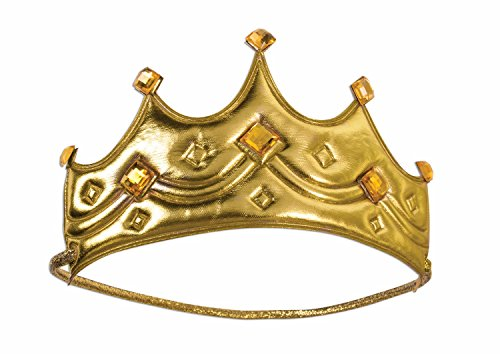 [Child Royal Crown King Queen Gold Medieval Wisemen Costume Accessory Prince] (Crown Royal Girl Costume)
