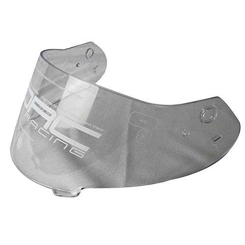(TORC Unisex-Adult T14B T14 Mako Full Face Motorcycle Dual Visor Lens Shield (Clear), One Size/Free Size)