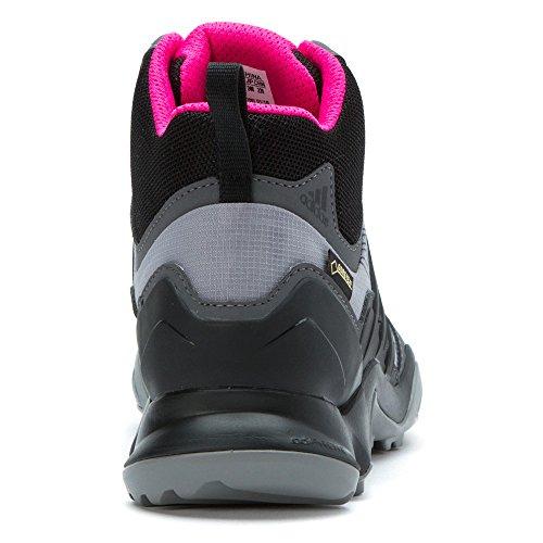 Adidas all'aperto Terrex Swift R Mid Gtx? Shock rosa / granito / nero Sneaker 9 B (m)