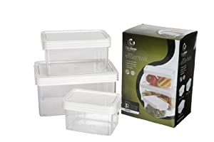 Click Clack Kitchen Essentials Small Airtight Canister Set of Three $16.99 @Amazon online deal