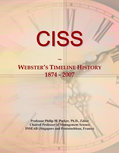 CISS: Webster's Timeline History, 1874 - 2007