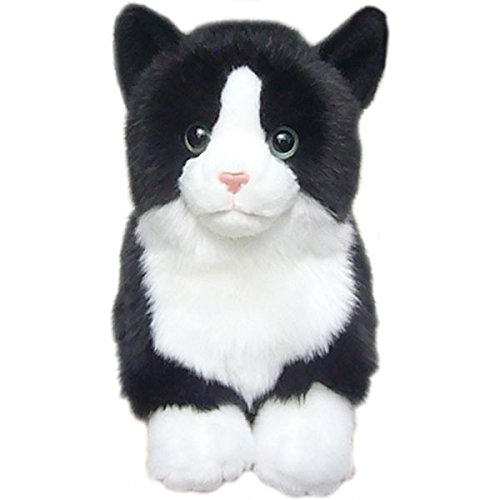 Faithful Friends Black and White Tabby Cat Stuffed Animal 12