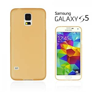 LJF phone case OnlineBestDigital - Ultra-Slim Colorful Transparent Case for Samsung Galaxy S5 - Orange