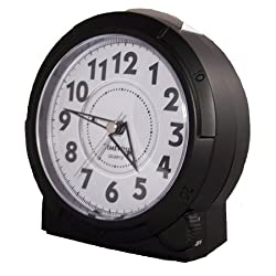 TimeWise Yale Analog Alarm Clock Black