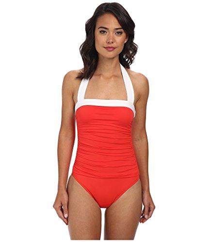 Lauren Ralph Lauren Women's Swimsuit, Ruched Tummy Control (10, ()